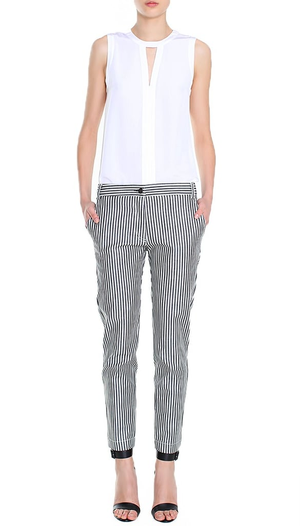 "I've been on the hunt for the perfect pair of striped pants for a while now, and thanks to Tibi, I found ""the one"" in these railroad striped jeans ($220). The slouched fit can easily pair with heels or flats, and the skinny vertical lines are super flattering. — Chi Diem Chau, shopping editor"
