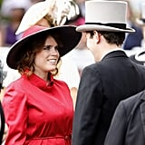 Princess Eugenie Smiling at Jack Brooksbank Pictures