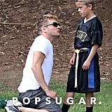 Ryan Phillippe gave Deacon a few pointers.