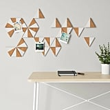 Cork Triangles Removable Wall Decal in Light Brown