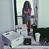 Gigi Taking a Mirror Selfie in This High-Waisted Two-Piece