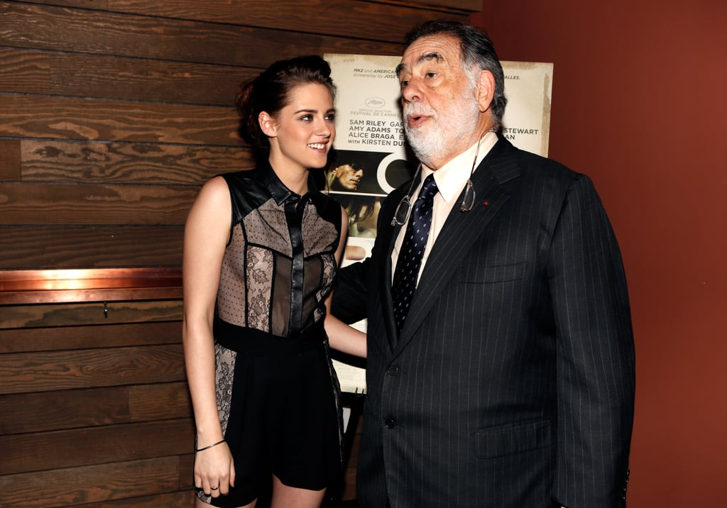 Francis Ford Coppola and Kristen Stewart attended the LA screening of On the Road.