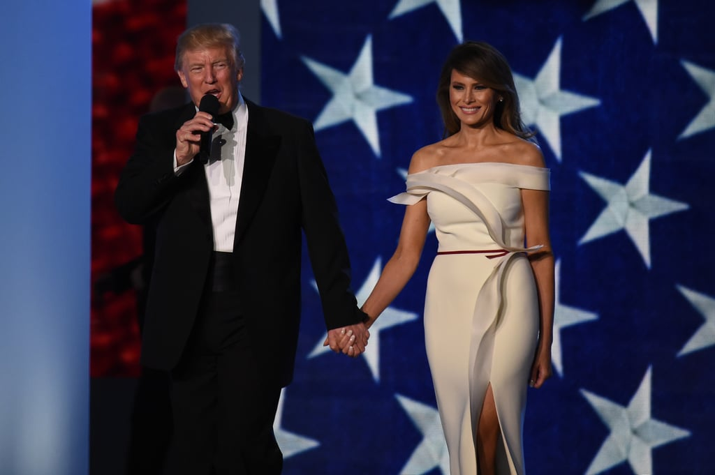 melania trump s inaugural dress at smithsonian museum popsugar