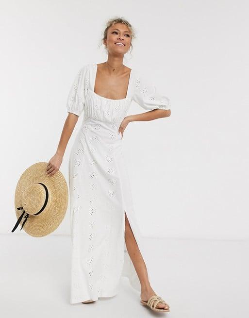 ASOS Design Broderie Maxi Dress