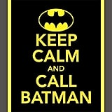 Prints So Charming Keep Calm and Call Batman Print ($10)
