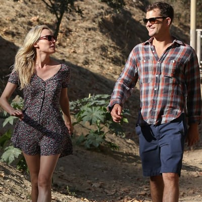 Joshua Jackson and Diane Kruger on a Hike in LA