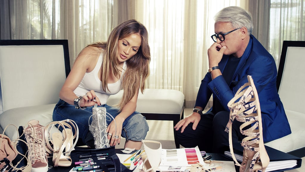 "In an exciting career turn that actually makes a lot of sense, Jennifer Lopez collaborated with Giuseppe Zanotti to create one sexy, strappy, and luxurious footwear collection. The capsule line — dubbed Giuseppe for Jennifer Lopez — launches on Jan. 23 and ranges from gladiator sandals to crystal-encrusted booties. In a press release, Giuseppe said, ""I've always been inspired by Jennifer and love the way she looks in my shoes."" The Italian designer also described their designs as being ""sensual, sophisticated, modern but also playful with a bit of edge."" Sound familiar? As if we needed further proof that this is an over-the-top collection, Jennifer said, ""I think it goes without saying that like every other girl, I love a killer pair of shoes."" Adding, ""The collection Giuseppe and I have created is everything you would expect from the both of us — badass high heels with shapes that are fierce and, of course, have some sparkle!"" Given her personal style, we should have known this will be the shoe we'll be dying to add to our closets. The line is now available at Bergdorf Goodman, Saks Fifth Avenue, Neiman Marcus, Nordstrom, and Giuseppe Zanotti Design stores. Prices range from $795 to $2,995. Scroll ahead to see a behind the scenes of J Lo's creation process and take a peek at our favorite shoes from the collection.  — Additional reporting by Alessandra Foresto"
