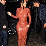 Kim Kardashian Snakeskin Dress by Mugler 2019