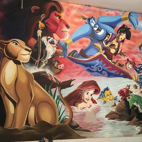 Dad Paints Disney Mural For His Daughter