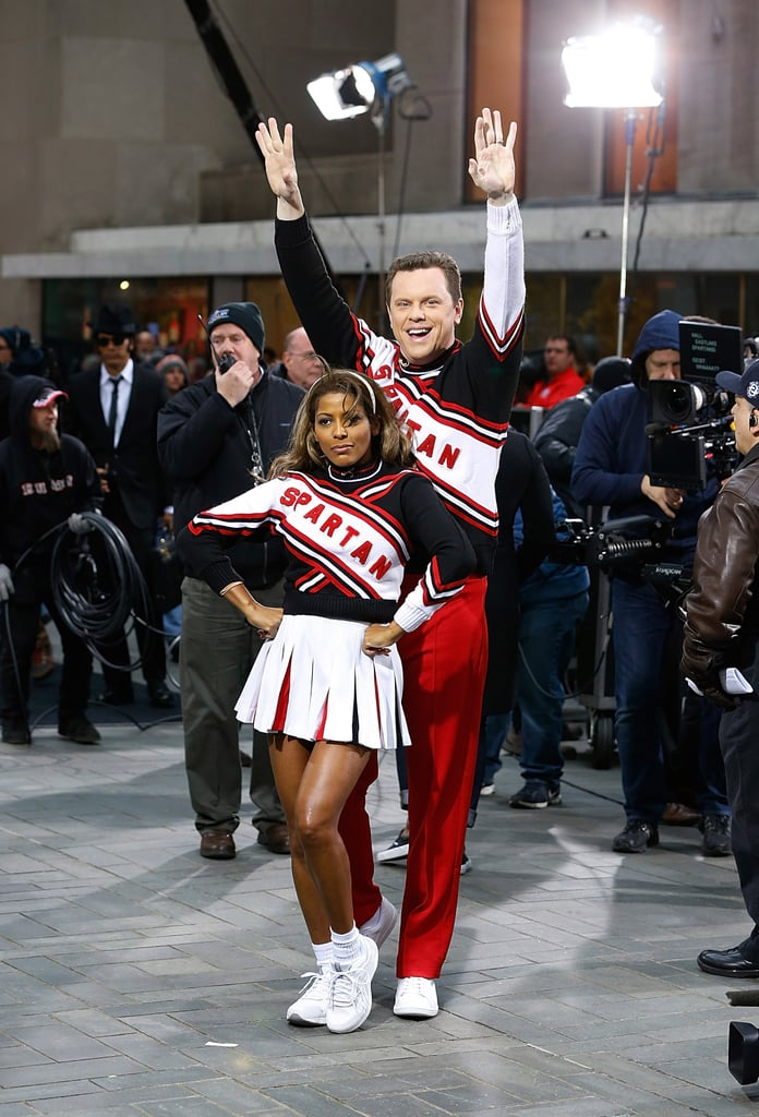In 2014, Willie Geist and Tamron Hall dressed as the Cheerleaders from SNL