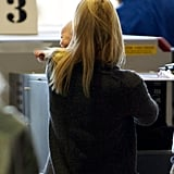 Claire Danes had baby Cyrus Dancy in her arms to travel through LAX.