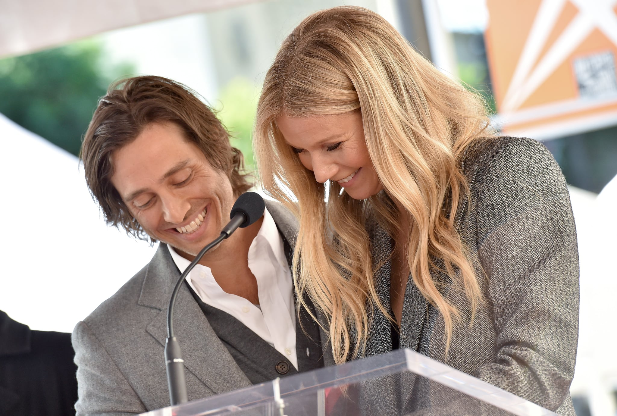 HOLLYWOOD, CA - DECEMBER 04:  Brad Falchuk and Gwyneth Paltrow attend the ceremony honouring Ryan Murphy with star on the Hollywood Walk of Fame on December 4, 2018 in Hollywood, California.  (Photo by Axelle/Bauer-Griffin/FilmMagic)