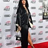 Rihanna Wearing a Vintage Silk John Galliano Robe at the AFI Opening Night Gala