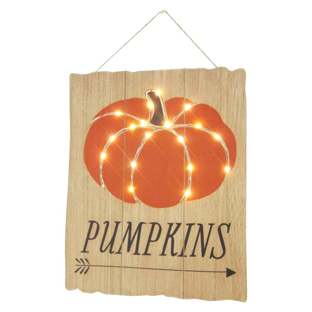 Halloween Wall Decor halloween lit pumpkin wooden wall decoration | halloween decor