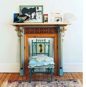 A strategically placed chair looks perfectly framed here. Absolutely charming!  Source