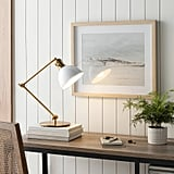 Metal Task Lamp Antique Brass