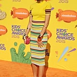 Zendaya chose a bold red design from the shoe label for her appearance at the 2015 Kids' Choice Awards.