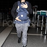 Orlando Bloom was with son Flynn Bloom at LAX.