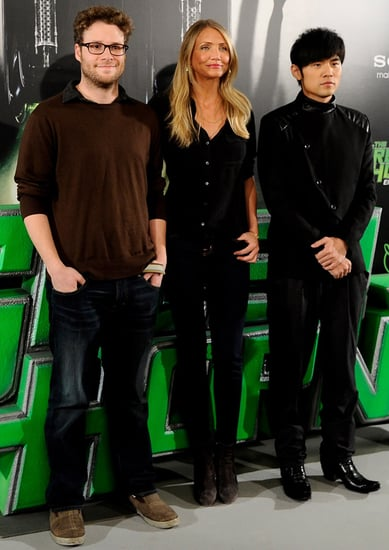 Pictures of Cameron Diaz, Seth Rogen, and Jay Chou at the Green Hornet Photo Call in Madrid