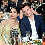 Pictured: Freida Pinto and Orlando Bloom