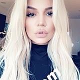 Khloé Kardashian Platinum Blond Hair 2018