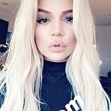 Khloé Kardashian Platinum Blonde Hair 2018
