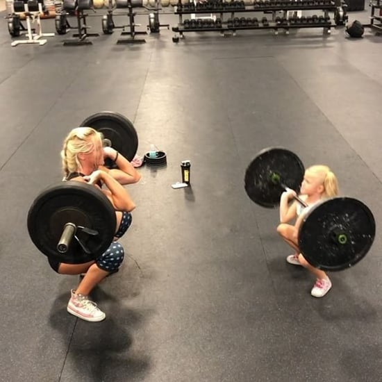 Mother and Daughter Lifting Weights Together on Instagram