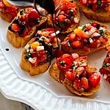 Tomato Basil Bruschetta With Balsamic Drizzle