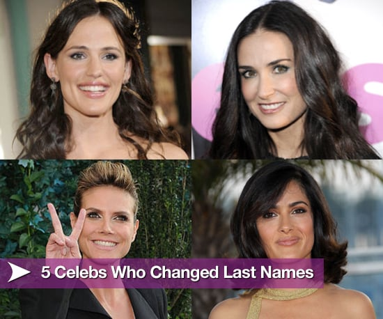 Celebrities who changed their last names