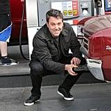 Ben Affleck pumped gas in LA on Wednesday.