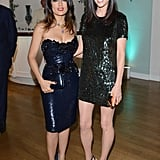 Salma Hayek and Jennifer Connelly made a sparkly pair at Gucci and Vanity Fair's bash.
