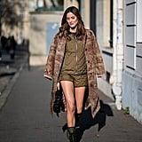 Say yes to coordinates that look this cool, then finish with a coat and boots for transitional weather.