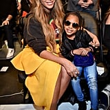 Blue Ivy at the NBA All-Star Game in 2018