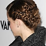 . . . but from the back, her braided updo added the right amount of modern edge to her look.