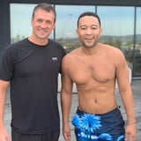 John Legend Got a Swim Lesson From Ryan Lochte, and Remind Me, Who's the Olympian?!