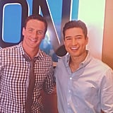 Mario Lopez and Ryan Lochte hung out. Source: Instagram user ryanlochte