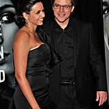 Matt Makes His Adjustment Bureau Premiere a Valentine's Date Night With Luciana