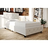 Dakota Upholstered Faux Leather Platform Bed