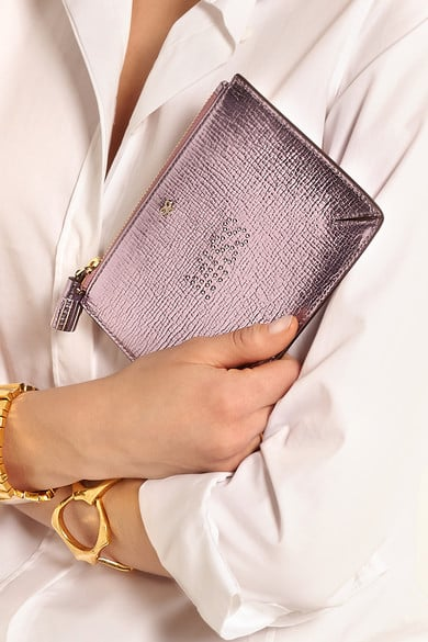 Anya Hindmarch Miss Metallic Textured Leather Pouch ($235)