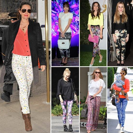 Printed Pants | Celebrity Pictures