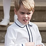 Prince George Made Plenty of Silly Faces at Princess Eugenie's Wedding in October