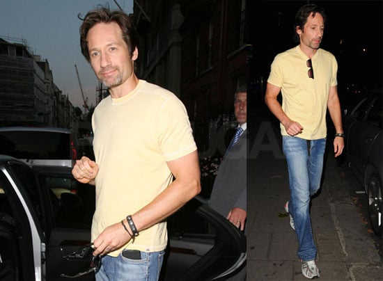 Photos of David Duchovny Who Is in London Promoting The X-Files: I Want to Believe