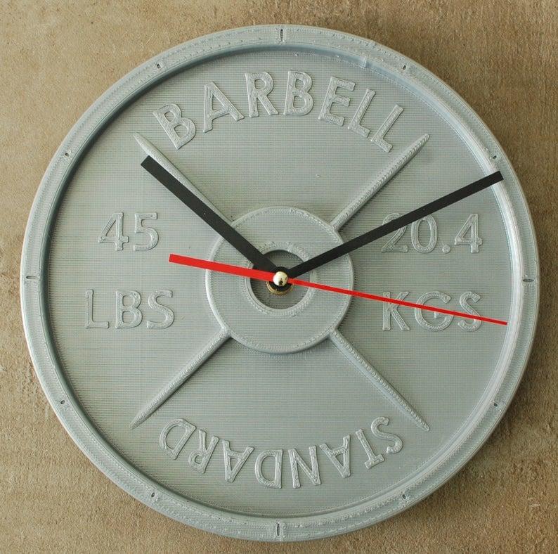 Weight Plate Clock