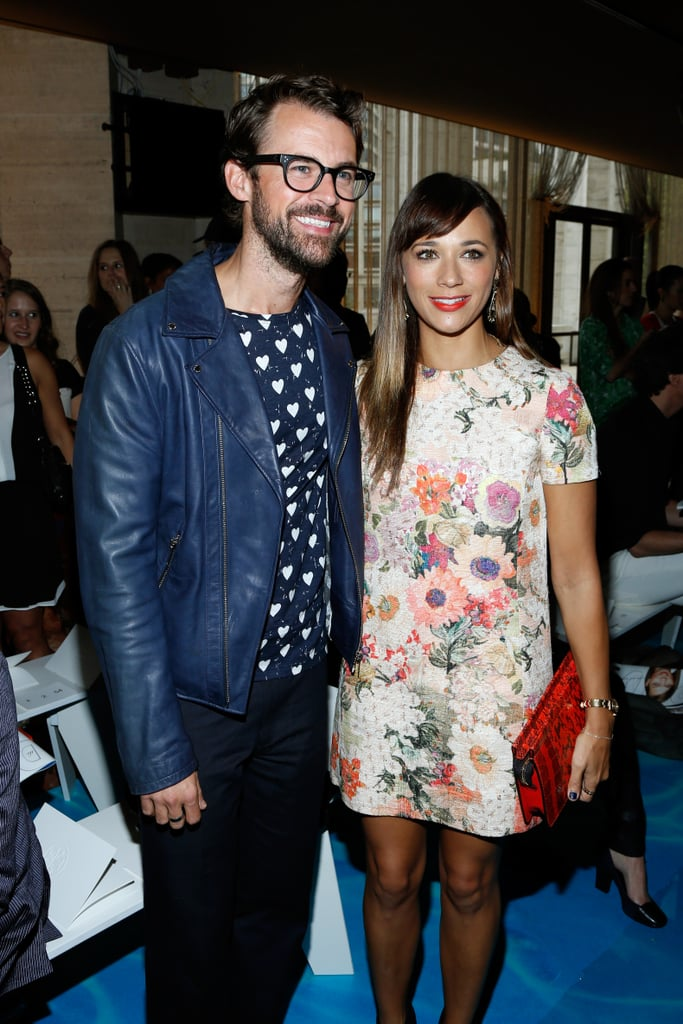 Brad Goreski and Rashida Jones were all smiles at Tuesday's Tory Burch show.