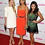 Mollie King, Rochelle Humes, and Vanessa White