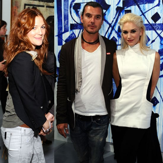 Gwen Stefani, Gavin Rossdale, and Drew Barrymore at MOCA 2011-04-15 06:57:06