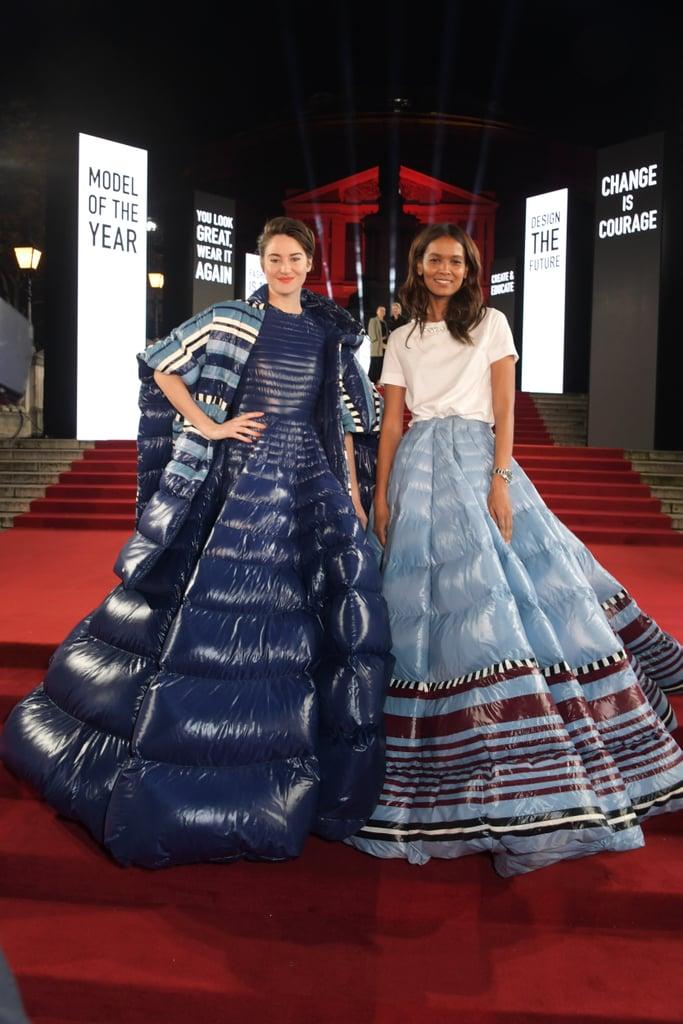 Shailene Woodley in Moncler at British Fashion Awards 2019