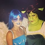 "Colton Haynes nailed Princess Fiona from Shrek with his costume. ""The most beautiful man in the world ...was the most unfortunate looking woman last night,"" Lucy joked in the caption of this Instagram picture."