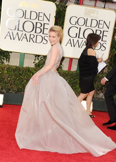 Piper Perabo Wears Theory Spring 2012 Collection at the 2012 Golden Globes