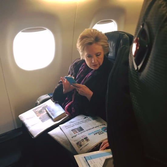 Hillary Clinton Reading Mike Pence Email Story Photo